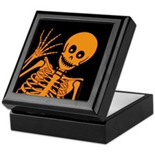 Friendly Skeleton Keepsake Box