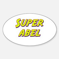 Super abel Oval Decal