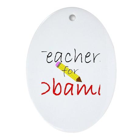 Teachers Oval Ornament