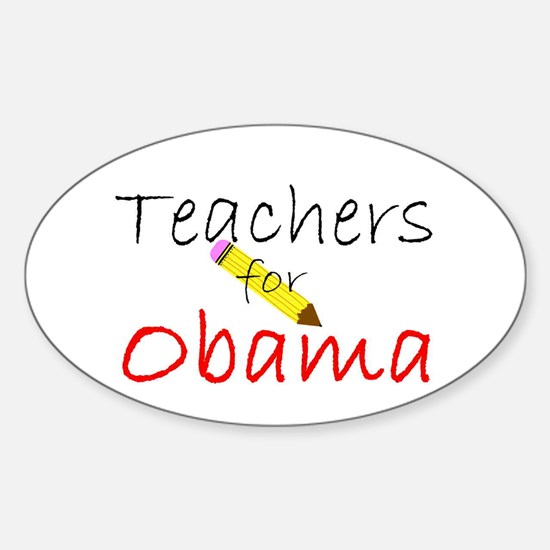 Teachers Oval Decal