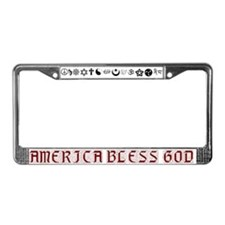 America Bless God License Plate Frame