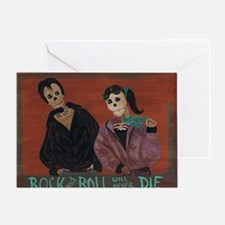 Rock and Roll Will Never Die Greeting Card