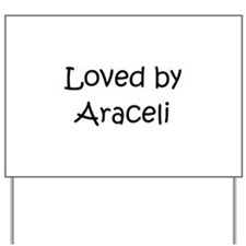 Unique Araceli Yard Sign