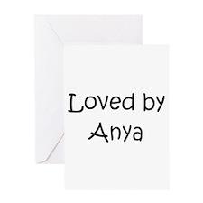 Anya Greeting Card
