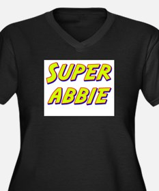 Super abbie Women's Plus Size V-Neck Dark T-Shirt