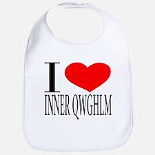 I LOVE INNER QWGHLM Bib