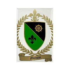 MOISAN Family Crest Rectangle Magnet (100 pack)