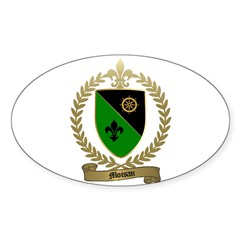 MOISAN Family Crest Oval Decal