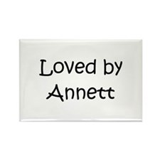 Cute Annette Rectangle Magnet