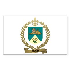 MOQUIN Family Crest Rectangle Decal
