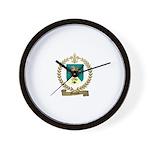 MOQUIN Family Crest Wall Clock