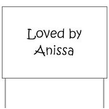 Cute Anissa Yard Sign