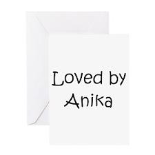Cute Anika Greeting Card