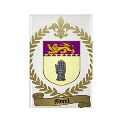 MOREL Family Crest Rectangle Magnet (10 pack)