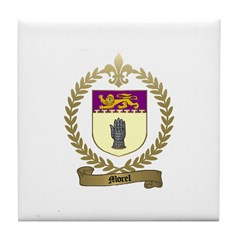 MOREL Family Crest Tile Coaster