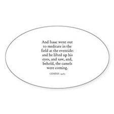GENESIS 24:63 Oval Decal