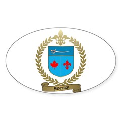 MORENCY Family Crest Oval Decal