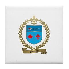 MORENCY Family Crest Tile Coaster