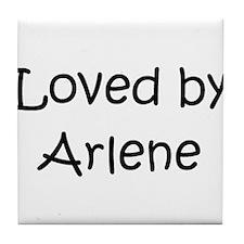 Cute Arlene name Tile Coaster