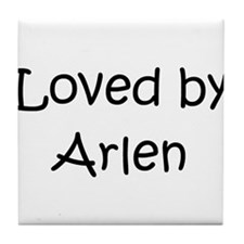 Funny Arlene name Tile Coaster