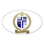MORIN Family Crest Oval Sticker