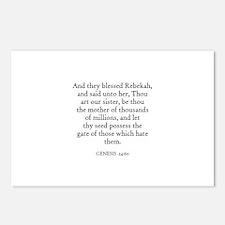 GENESIS  24:60 Postcards (Package of 8)