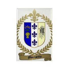 MORISETTE Family Crest Rectangle Magnet