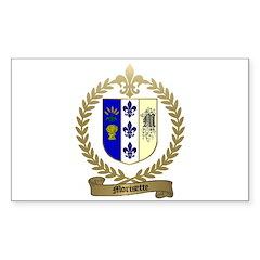 MORISETTE Family Crest Rectangle Decal