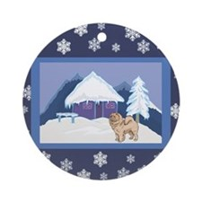 Snowflake Chow Chow Ornament (Round)