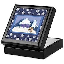 Snowflake Bulldog Keepsake Box
