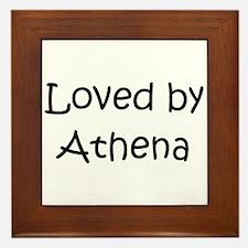 Funny Athena Framed Tile