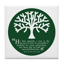 Planteth A Tree Tile Coaster