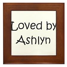 Unique Ashlyn Framed Tile