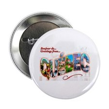 """Quebec Canada Greetings 2.25"""" Button"""