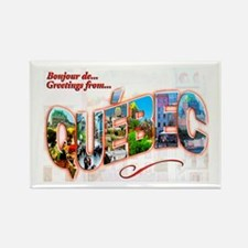 Quebec Canada Greetings Rectangle Magnet