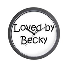 Funny Becky name Wall Clock