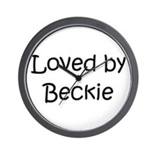 Unique Becky name Wall Clock