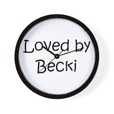 Cute Becky name Wall Clock