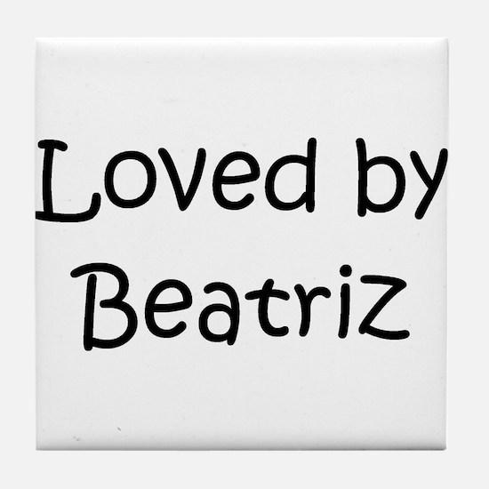 Cool Beatriz Tile Coaster