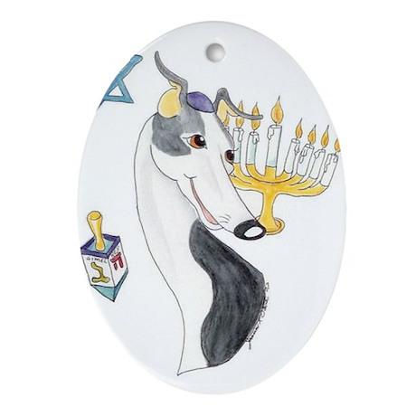 Happy Hannukah Oval Ornament