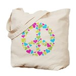 Love in Peace. Bunch of heart Tote Bag