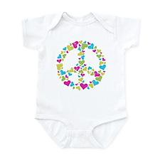Love in Peace. Bunch of heart Infant Bodysuit