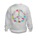 Love in Peace. Bunch of heart Kids Sweatshirt