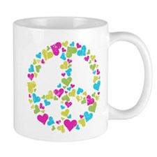 Love in Peace. Bunch of heart Mug