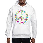 Love in Peace. Bunch of heart Hooded Sweatshirt