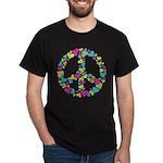 Love in Peace. Bunch of heart Dark T-Shirt