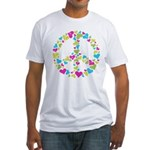 Love in Peace. Bunch of heart Fitted T-Shirt