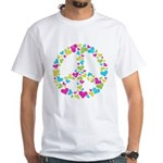 Love in Peace. Bunch of heart White T-Shirt