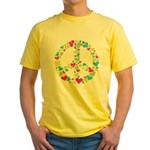 Love in Peace. Bunch of heart Yellow T-Shirt