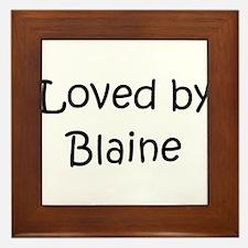 Cute Blaine Framed Tile